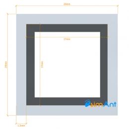 Фото Труба алюминиевая квадратная анодированная 20х20х1.5мм