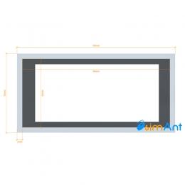 Фото Труба алюминиевая квадратная анодированная 60х30х2мм