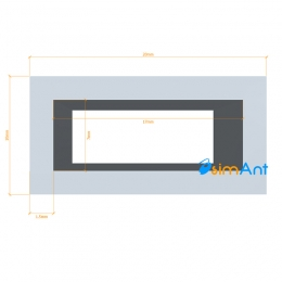 Фото Труба алюминиевая квадратная анодированная 20х10х1.5мм