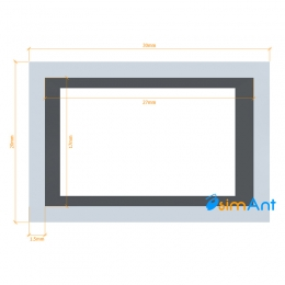 Фото Труба алюминиевая квадратная анодированная 30х20х1.5мм