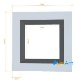 Фото Труба алюминиевая квадратная анодированная 15х15х1.5мм