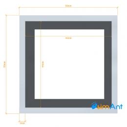 Фото Труба алюминиевая квадратная анодированная 50х50х3мм