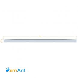 Фото Алюминиевая полоса (Шина) анодированная 75х3мм