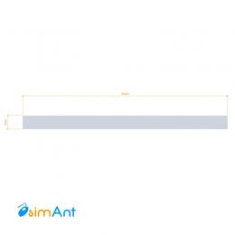 Фото Алюминиевая полоса (Шина) анодированная 30х2мм