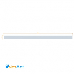 Фото Алюминиевая полоса (Шина) анодированная 60х3мм