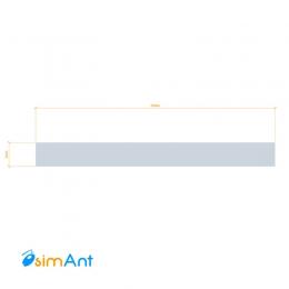 Фото Алюминиевая полоса (Шина) анодированная 20х2мм