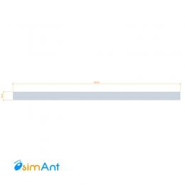 Фото Алюминиевая полоса (Шина) анодированная 40х2мм