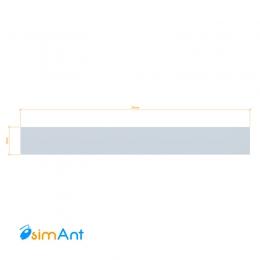 Фото Алюминиевая полоса (Шина) анодированная 25х3мм
