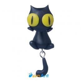 Фото Серьга обманка Черный кот