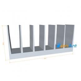 Фото Алюминиевый радиаторный профиль 79х35мм