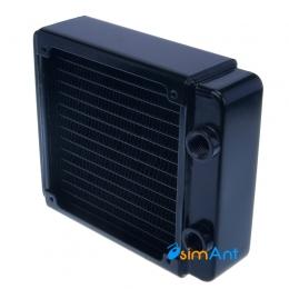 Фото Медный радиатор водяного охлаждения 120х120мм
