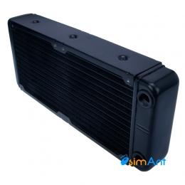 Фото Алюминиевый радиатор для СВО 240х120мм с резьбой G1/4