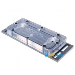Фото Акриловый водоблок для модулей памяти Alphacool D-RAM Cooler X4 Universal - Plexi Black Nickel