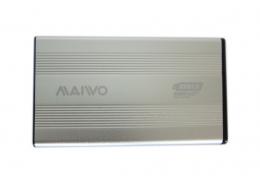 """Фото Внешний карман для HDD/SSD 2.5"""" MAIWO K2501A-U3S silver алюминий"""