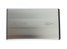 Фото Внешний карман для HDD/SSD 2.5 дюйма Maiwo K2501A-U2S silver алюминий