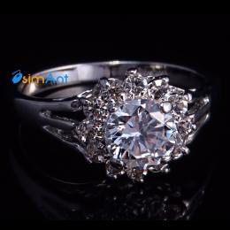 Фото Кольцо Цветочный кристалл