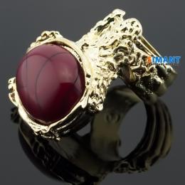 Фото Кольцо Афродита красный камень