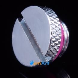 Фото Заглушка с резьбой G1/4 металлическая