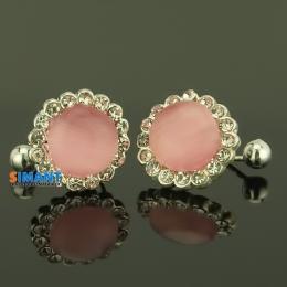 Фото Серьги-клипсы Розовый цветок