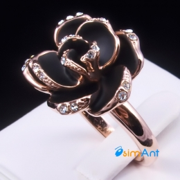 Фото Кольцо Черная роза