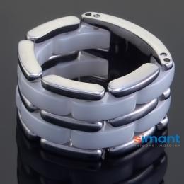 Фото Кольцо керамическое белое в стиле Chanel