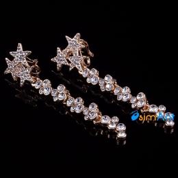 Фото Серьги-клипсы Бриллиантовые звезды