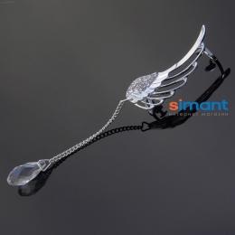 Фото Кафф Нежное крыло ангела с проколом на правое ухо