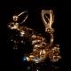 Фото Kафф Хрустальная веточка без прокола ушей золото