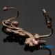 Фото Кафф Золотая веточка без прокола на правое ухо