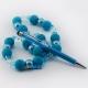 Фото Ручка-стилус с искусственными кристаллами (голубой)