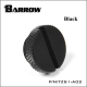 Фото Заглушка Barrow с резьбой G1/4 черная