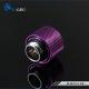 Фото Штуцер для жестких трубок внешним диаметром 12мм с гайкой BykSki (B-HTJ-L12), фиолетовый