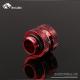 Фото Штуцер для жестких трубок внешним диаметром 12мм с гайкой BykSki (B-HTJV2-L12), красный