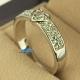 Фото Кольцо Бриллиантовое сердце белое золото