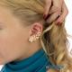 Фото Кафф Нежная веточка с проколом на правое ухо