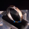 Фото Кольцо из стали с позолотой Лирика
