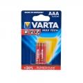 Фото Батарейка Varta Max Tech AAA BLI 2 Alkaline (04703101412)
