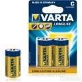 Фото Батарейка Varta Longlife C BLI 2 Alkaline (04114101412)