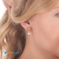 Фото Серьги-клипсы Бантик с жемчужиной