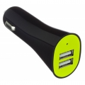 Фото Автомобильное зарядное устройство Kit Dual USB Charger 3.1 A Black (USBKCC3A)