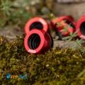 Фото Штуцер для жестких трубок внешним диаметром 14мм с гайкой (Красный)