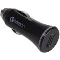 Фото Автомобильное зарядное устройство Kit USB Qualcomm 2.0 Black (USBCCQC)