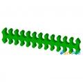 Фото Держатель кабелей 24-pin (питание материнской платы) зеленый открытый
