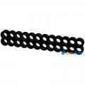 Фото Гребешок для кабелей 24-pin (питание материнской платы) черный закрытый