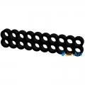 Фото Гребешок кабелей 20-pin (питание материнской платы) черный закрытый