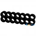 Фото Гребешок для кабелей блока питания 14-pin черный (питание видеокарты)