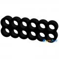 Фото Cable combs 12-pin (питание видеокарты) черный закрытый