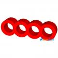 Фото Держатель кабелей 4-pin (Molex IDE) красный закрытй
