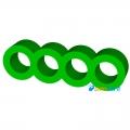 Фото Держатель кабелей 4-pin (Molex IDE) зеленый