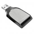 Фото Кардридер SanDisk USB 3.0 SDHS/UHS-I/UHS-II Silver/Black (SDDR-399-G46)